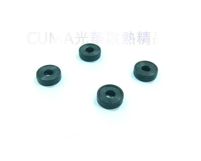 光華CUMA散熱精品*防震墊片 矽膠墊圈 M3 M4螺絲用 一包4入 外徑9mm /內徑3.8mm /厚2.8mm~現貨