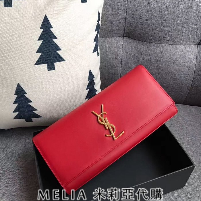 Melia 米莉亞代購 歐洲代購 Saint Laurent YSL 18ss 8月新品 手拿包 超實用 包裝齊全 紅色