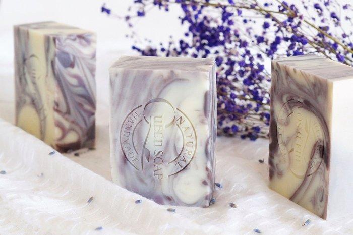女王天然手工皂「薰衣草精萃-舒眠潤膚皂」  手工香皂 手工肥皂
