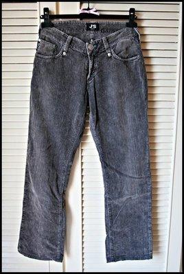 遠企專櫃真品【EXTE】J S 灰刷洗刷牛仔褲