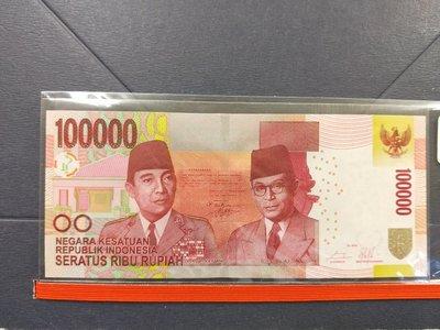 全新2014年印尼最高面額 100000盧比 趣味鈔  #666666   所見即所得