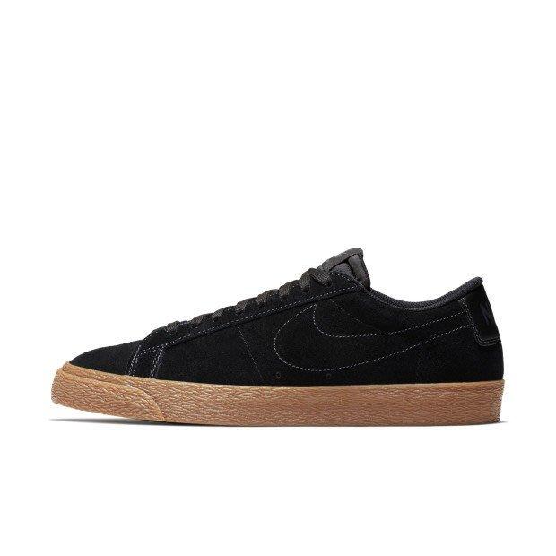 NIKE SB ZOOM BLAZER LOW 黑色 麂皮 滑板鞋 864347-002 男鞋