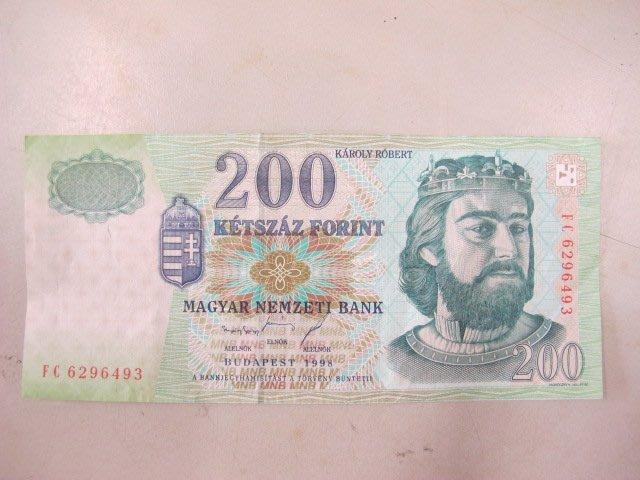 二手舖 NO.424 HUNGARY(匈牙利紙幣)200-FORINT,2001