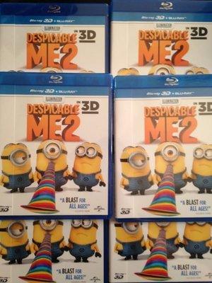 (全新未拆封)神偷奶爸2 Despicable Me 2 3D+2D 藍光BD(傳訊公司貨)