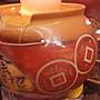 【星辰陶藝】(有燈) 小水琴(鐵紅),8公分滾球流水,圓滿甕,財源滾滾,時來運轉,招財進寶,風水滾球