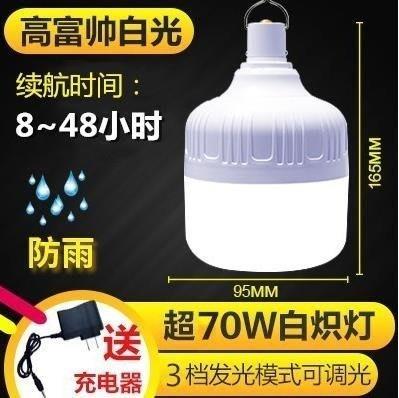 LED燈 充電燈泡家用移動神器夜市燈擺攤擺地攤照明超亮LED無線停電應急