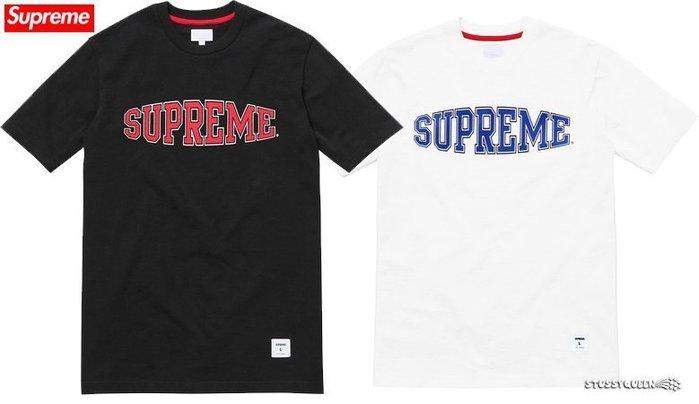 【超搶手】全新正品 2015 AW 熱賣 Supreme Warp Logo Tee 字體 黑 白 灰 藍 M L XL