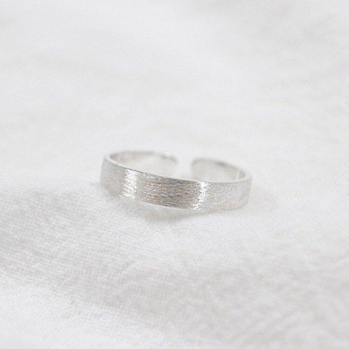 《現貨》925純銀時尚個性簡約 素面拉絲氣質素銀 純銀活口戒指 食指 中指 無名指 關節戒  Baonizi 寶妮子