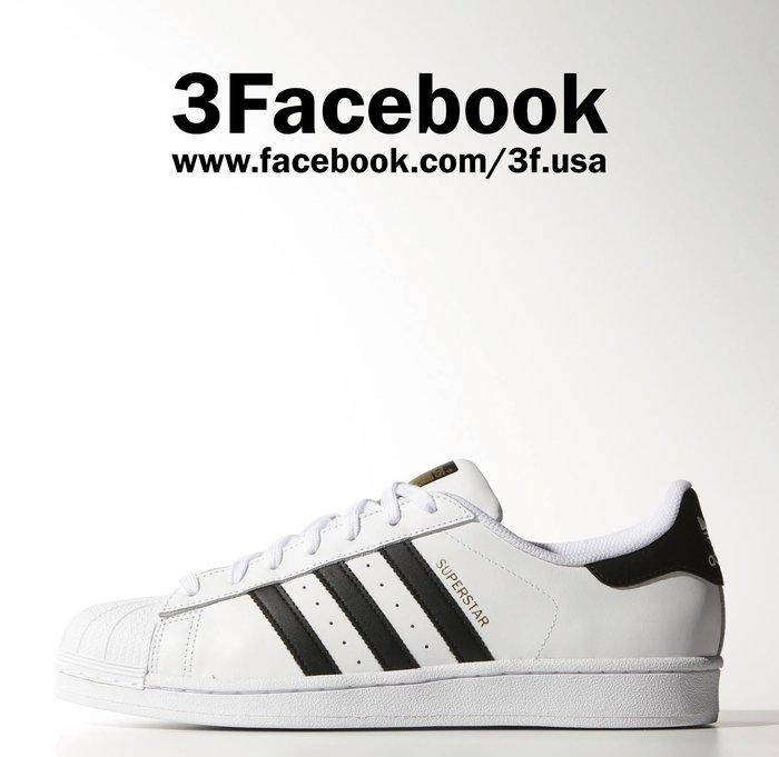 預購 3F美國代購 100%正品 Adidas Superstar 黑白 金標 C77124 男鞋 29.5cm