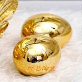 INPHIC-電鍍工藝品金蛋銀蛋陶瓷臥室酒店攝影道具裝飾品擺飾結  6入