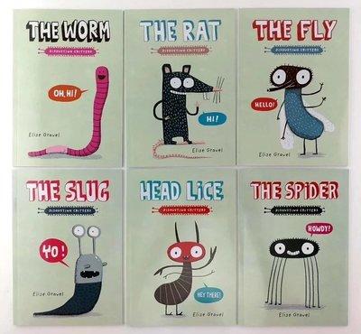 【現貨】超可愛畫風 The Disgusting Critters Series生物訊息英文繪本一套6本