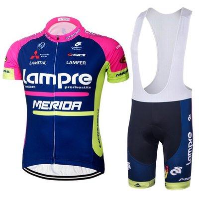 6藍波粉色騎行服 短袖 套裝 夏季環法車隊版運動騎行服 男女  夏季短袖套裝 自行車衣 騎士服 自行單車車隊版騎行裝備