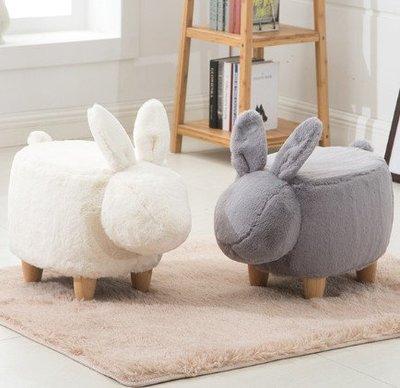 ☆[新荷手作] R475NH新款優惠中!☆萌萌椅凳- 小白兔/小灰兔(標準型)/可愛兒童坐椅 / 裝飾品/換鞋椅/動物椅