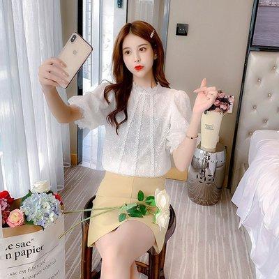 小香風 短袖T恤 時尚穿搭 蕾絲衫女 韓版 時尚氣質超仙淑女洋氣甜美百搭上衣小衫