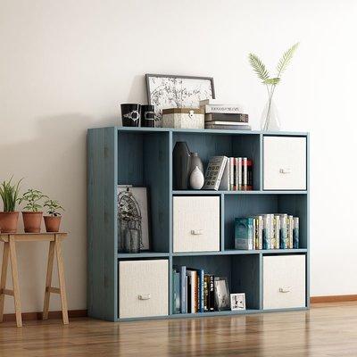 書櫃落地書架簡易書櫃簡約現代置物架學生組合書櫃創意收納櫃帶抽屜門