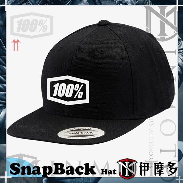 伊摩多※美國 RIDE 100% ENTERPRISE 經典後扣帽 SnapBack 棒球帽 20015-001黑白
