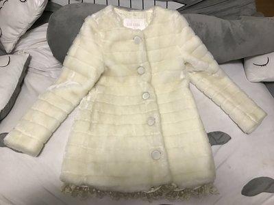 日本甜美Liz Lisa 蕾絲白色毛毛外套
