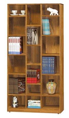 【浪漫滿屋家具】(Gp)551-7 集層柚木色開放書櫥