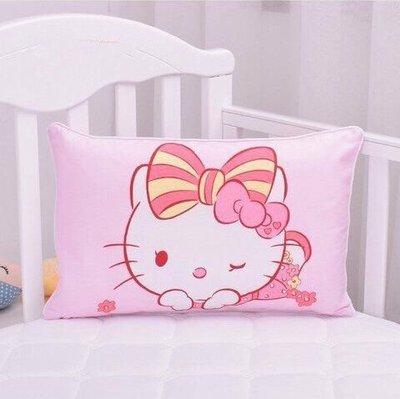 兒童枕頭 幼兒園午睡枕 學生枕頭 hello kitty枕頭套+紅色枕芯