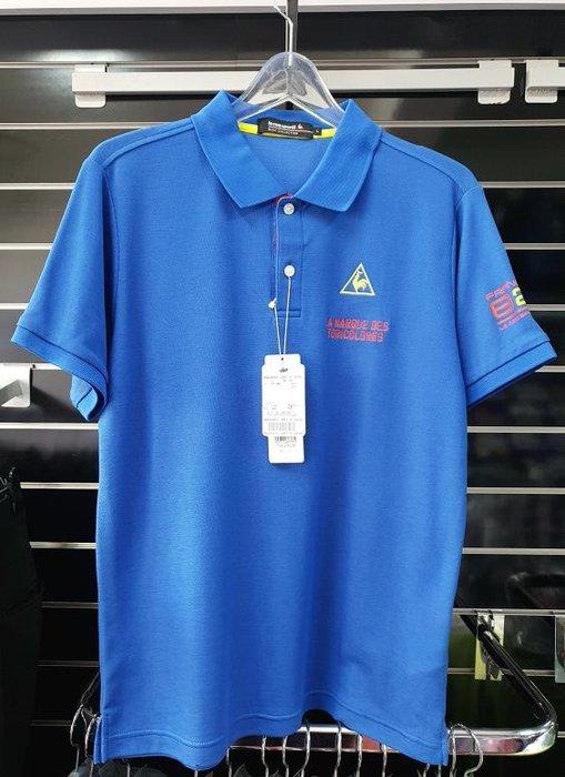 (易達高爾夫) 全新原廠 le coq sportif TQG2023K 藍色 男短袖上衣