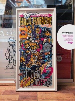 Artlife @ Rockin Jelly Bean PHANTOMSURFERSTOUR 2012 怪物 絕版 海報