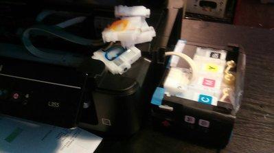 E牌 堵塞 解碼 修復500 失效 收集器已滿 故障閃燈 印字頭 噴頭更換 維修 Brother HP CANON