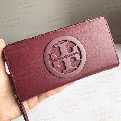 【菲比代購&歐美精品代購專家】2018年 Tory Burch TB新款 長夾 大LOGO皮夾 錢包 經典霸氣款 大紅色