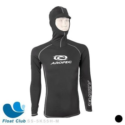 AROPEC 男款萊卡衣 頭套防曬衣 抗UV 衝浪上衣 水母衣 萊克衣-Lurk 潛伏 (限量版) SS-5K55H-M