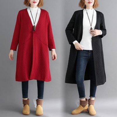 新款大尺碼女裝胖MM寬鬆開衫中長款外套...
