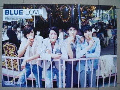 海報399免運~CNBLUE【BLUE LOVE】韓國團體鄭容和原來是美男韓版專輯宣傳~全新橫款+DM預購單免競標可海外