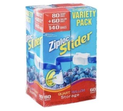 拉鍊式保鮮夾鏈袋 ZIPLOC大30個袋子+小40個袋子
