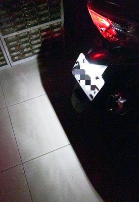 元耀~T10規格,12顆高晶片型HP~LED牌照燈模組,VESPA,衝刺,雷霆王,偉士牌,