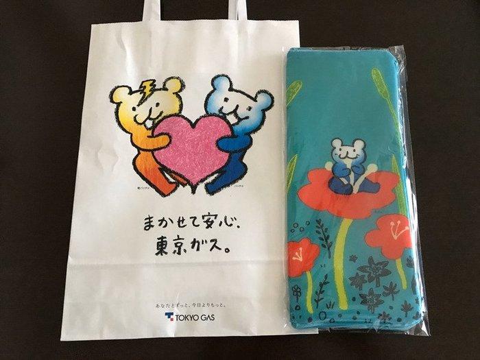 ☆Juicy☆日本 企業 吉祥物 雪尼爾 花朵 熊 吸水 雨傘套 飲料袋 水壺套 折疊傘套 3151