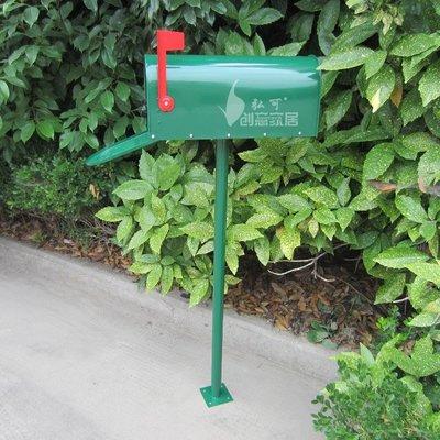信箱郵筒 美式別墅信箱室外田園帶鎖鍍鋅板防水信報箱戶外 JD
