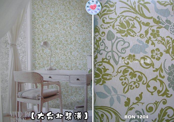 【大台北裝潢】BON台灣現貨壁紙* 小馬賽克底 愛麗絲仙境 蝴蝶兔子(3色) 每支650元
