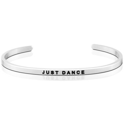 MANTRABAND 台北ShopSmart直營店 Just Dance 盡情地跳舞吧 悄悄話手環 銀色