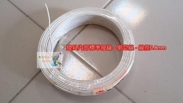 神通照明Σ華光牌︱單芯線/電線AWG#20號線0.8mm 0.8平方,1公尺/米4元CNS認證,台灣製,燈具專用配線
