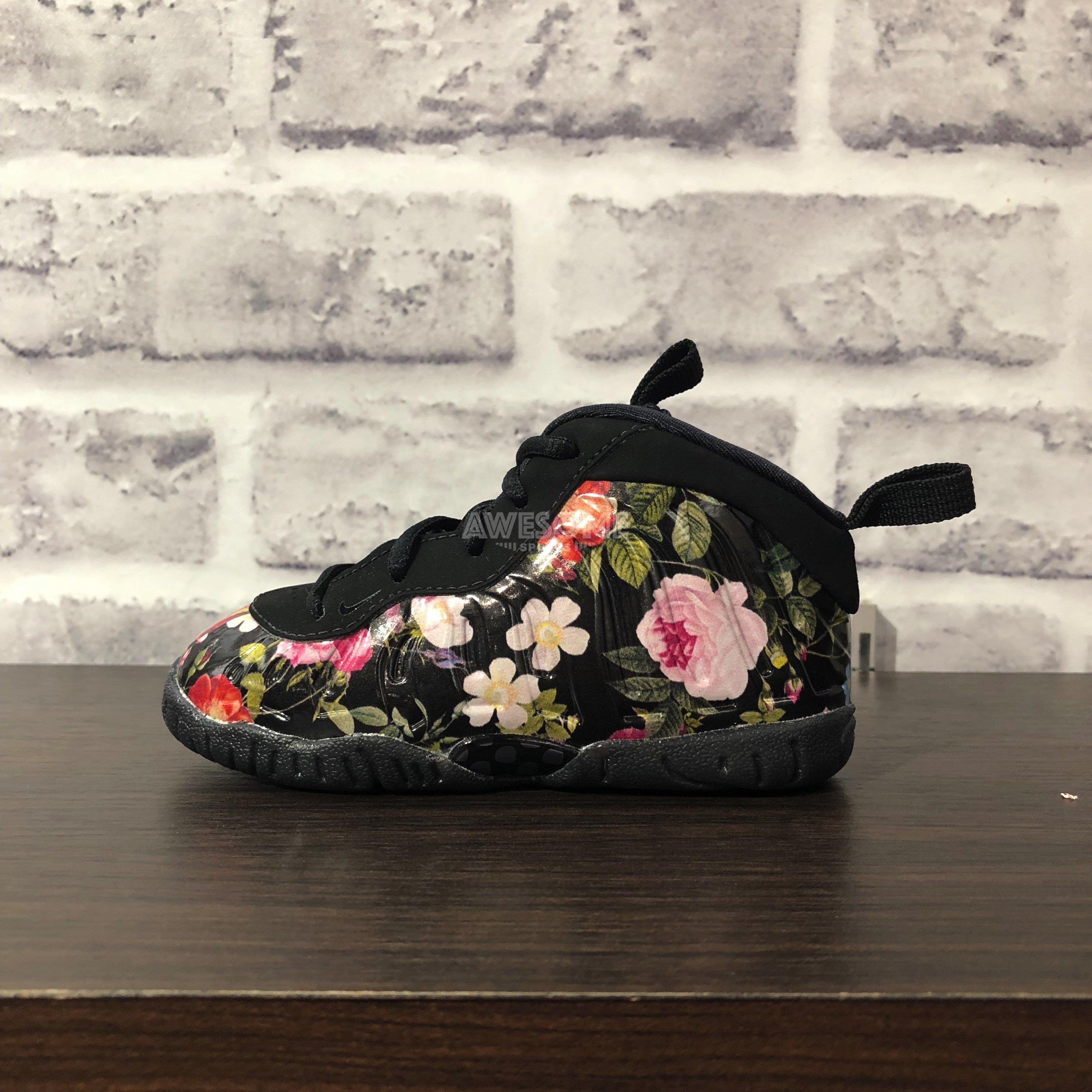 timeless design b6159 1136d  歐鉉 NIKE LITTLE POSITE ONE PRM TD Floral 花卉太空鞋AT8250-001