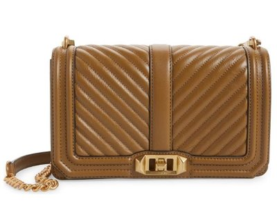 Love Chevron Quilted Leather Crossbody Bag REBECCA MINKOFF