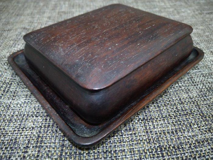 ☆清沁苑☆//清倉特價品出清// 日本古民具~古い唐木製 方型小盒 莨盆~d506
