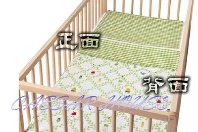 ╭☆凱薩小舖☆╮【IKEA】TORVA BLAD Q版蔬菜純棉綠格紋嬰兒/幼兒被套組-被套+枕套-滿月禮/免運