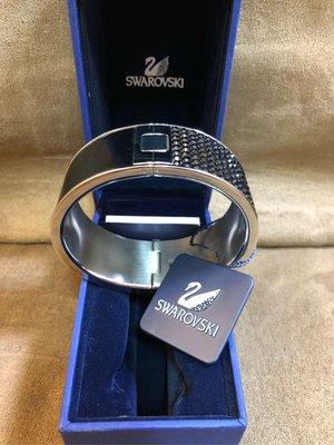 保證真品Swarovski 施華洛世奇水晶鑽皮革手環