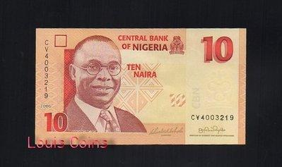 【Louis Coins】B135-NIGERIA--2006奈及利亞紙幣10 Naira