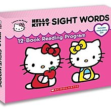 Hello Kitty Sight Words (12-book Reading Program with audio CD box set)]