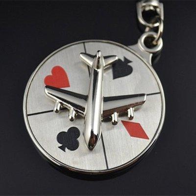 【SPSP】飛機輪盤鑰匙圈 造型鑰匙圈 汽車鑰匙圈 摩托車鑰匙圈 貨車鑰匙圈 金屬鑰匙圈 Roulette