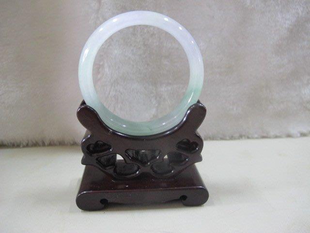二手舖 NO.4452 天然翡翠 玉石手鐲 三彩 玉鐲 手環 玉環 首飾飾品