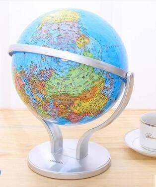 20cm地球儀720°萬向雙軸旋轉地球儀印刷清晰層次分明  mks