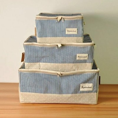 棉布被子收納袋 衣物整理袋儲物袋 衣服收納箱 有手把(請看產品介紹說明 )