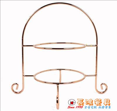 *~ 長鴻餐具~* 二層蛋糕皿架  玫瑰金  (促銷價) 18900046 現貨+預購