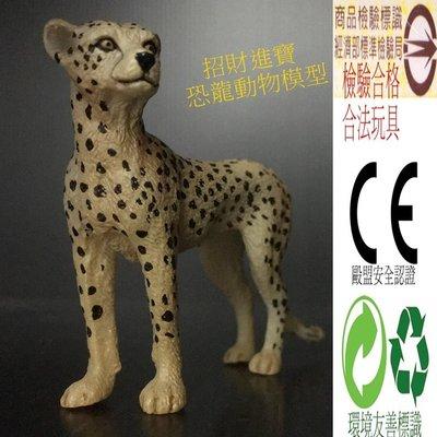 獵豹(母)仿真動物模型玩具野生動物園 ZOO 公仔玩偶小孩生日禮物教育另有售獅子企鵝北極熊貓河馬大象老虎羚羊恐龍AM19